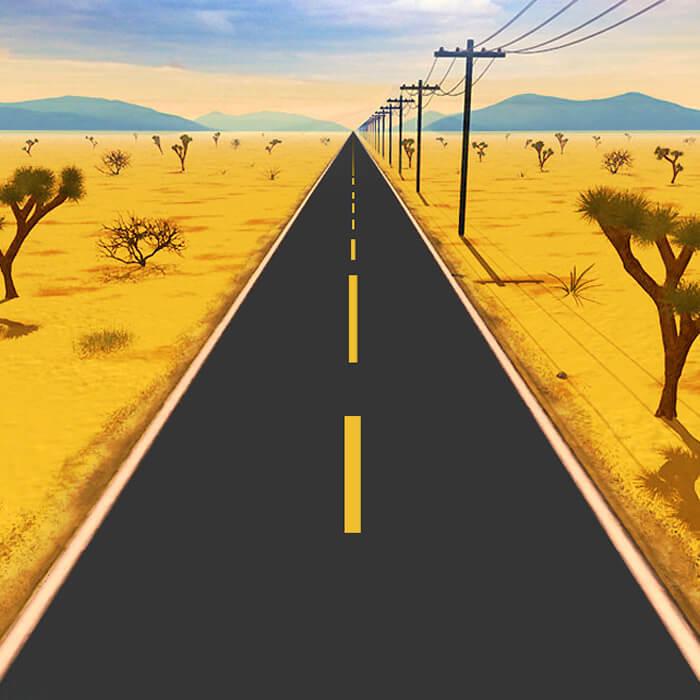 Poursuite désertique